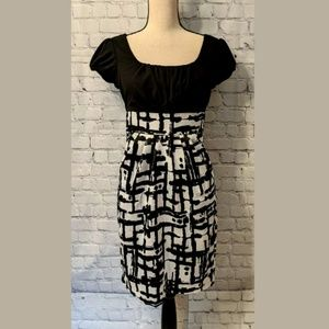 BCX Womans Dress Size 7 Black & White Cocktail